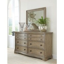 Corinne Wood Six Drawer Dresser Sun-Drenched Acacia Riverside Furniture