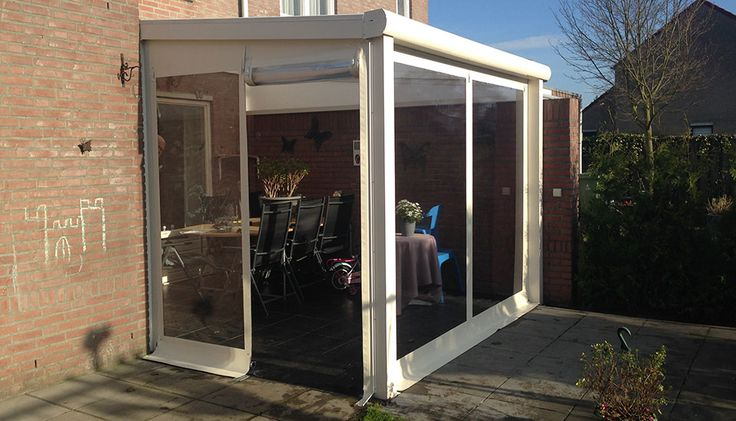 Foto s verandazeilen op maat veranda dicht maken met zeil verandazeilen raamzeilen - Transparante baai veranda ...