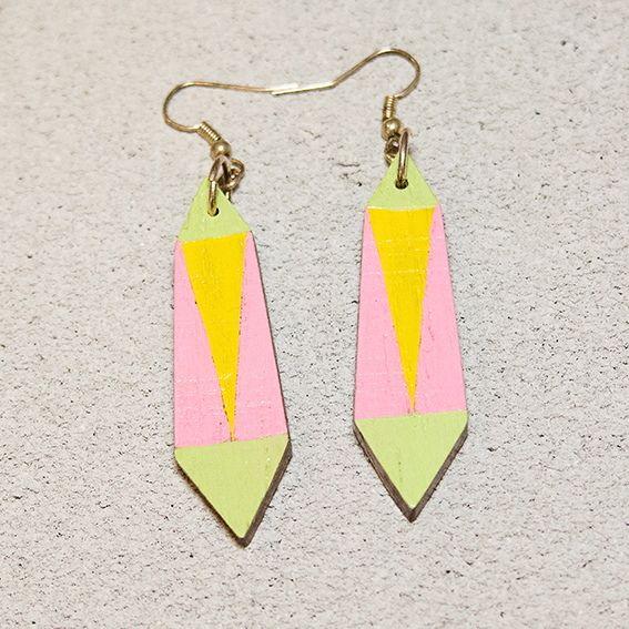 #shewoods #handmade #wooden #jewellery #yellow #pink #lightgreen #greece2017 #psyrri_athens #statement #jewelry #fashion #beautiful #style #fashion #accessories #earrings #shewoods
