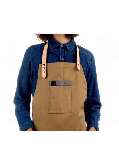 Leather strap apron | Bartender apron | Chef apron | barista apron| Hipster apron | restaurant apron Cool uniform / Restaurant and bar branding  www.Jook company.com