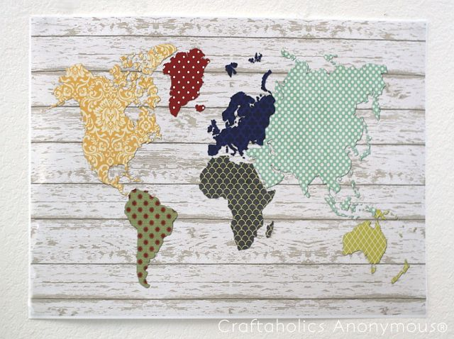 Free Pallet Art World Map Printable by: Amy   Hi guys!  Are y'all fans of pallet art?  I love the cool, rustic look of it and have thought about trying to re-create some of the amazing projects I have found via Pinterest.  Sadly, that'