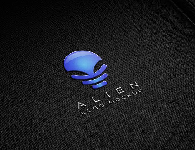 Download Metallic Embossed Logo Mockup Logo Mockup Embossed Logo Logos