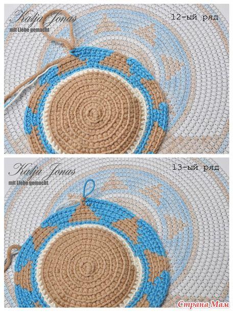 Мои любимые СтраноМамочки, приветствую вас в новом он-лайне, посвященном вязанию сумки Мочилы в технике крючкового жаккарда.