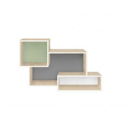 <p>Original Estanteria a Pared con tres compartimentos. Fabricada en madera contrachapada. Made in Spain.</p> <p>Medidas: 60.0 x 16.0 x 37.0 cm</p>