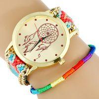 NEW Hippie Native American Atrapasueno Lace Women Watch MEXICAN Fashion woman wristwatch Fabric Bracelet