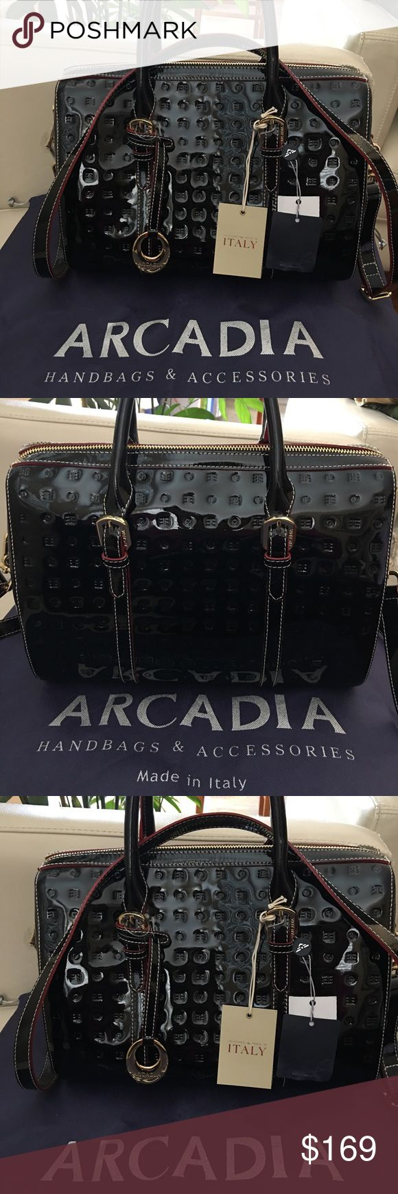 """NWT Arcadia Purse New with tag  100% Authentic L12.5"""" x H10""""x D8"""" Made in Italy arcadia Bags Crossbody Bags"""