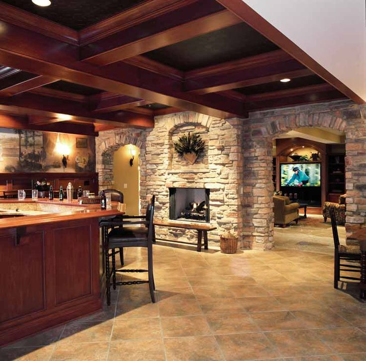 1000 ideas about basement fireplace on pinterest for House plans with hearth room