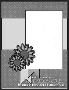 Flower punches or framelits would make a great embellishment idea on this card.