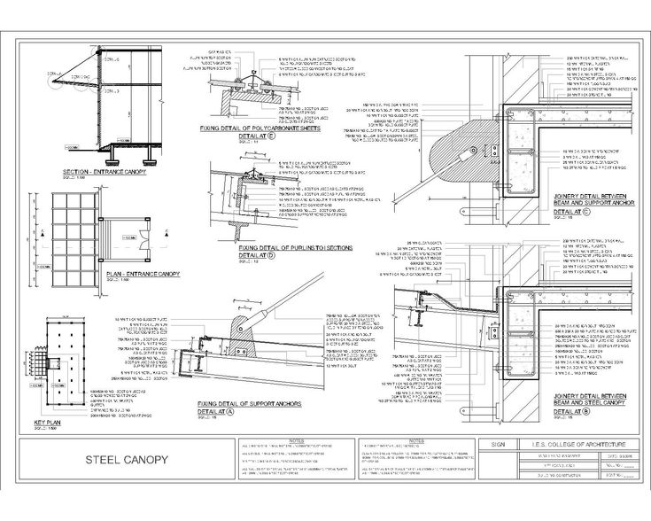 Entrance canopy CAD block - CADblocksfree -CAD blocks free
