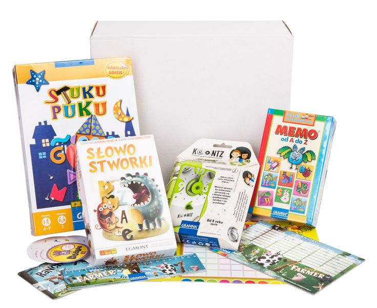 Grami Pudło - box pełen gier dla dzieci