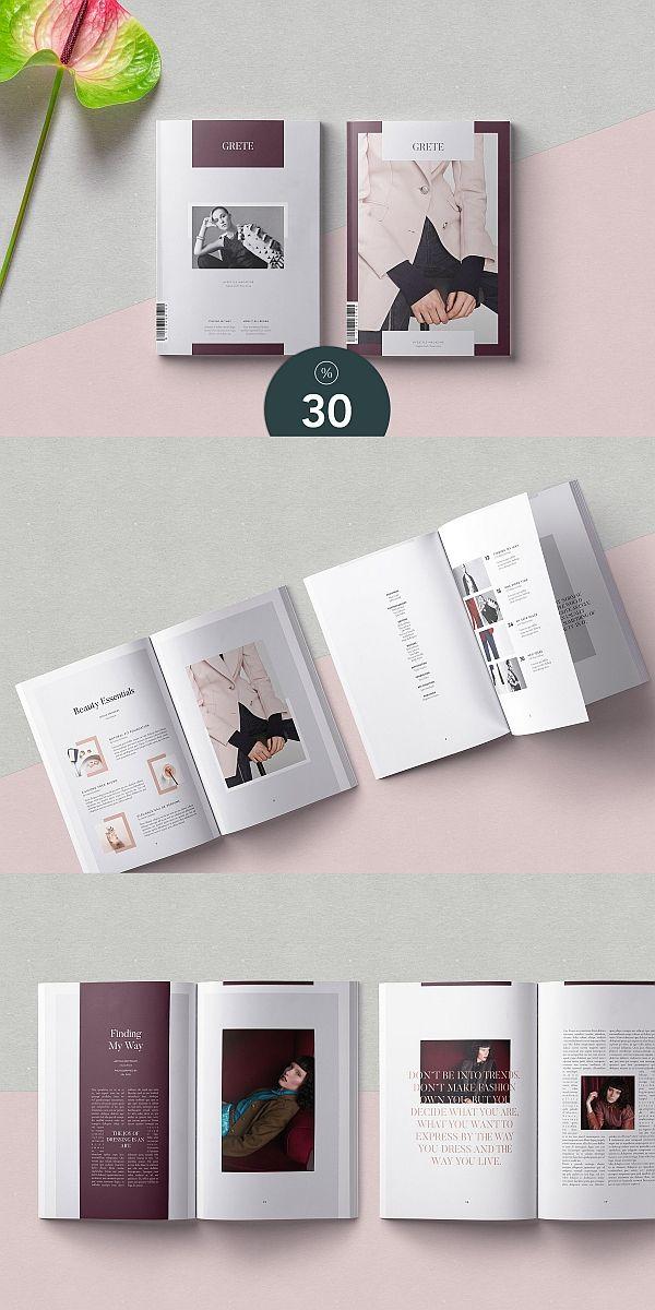 Grete Magazine Template Brochure Template Indesign Magazine