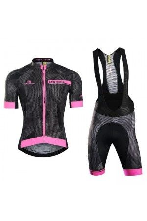 2016 Mens Unique Cycling Jersey Bib Suit Dawn Pink