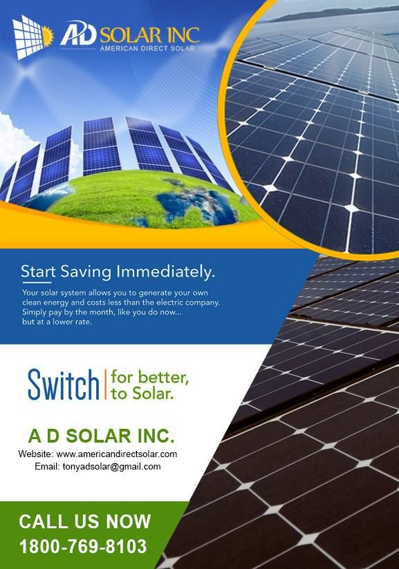American Direct Solar Provides An Exciting And Diverse Solutions Where Energy Is Always Continuous We Comprise Efficient And Ideal Solar Energy Renew Thiết Kế
