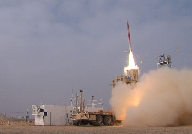 With an eye on threats stemming from Hezbollah in the north , Israel conducted another successful test of its advanced anti-ballistic missile defense system.