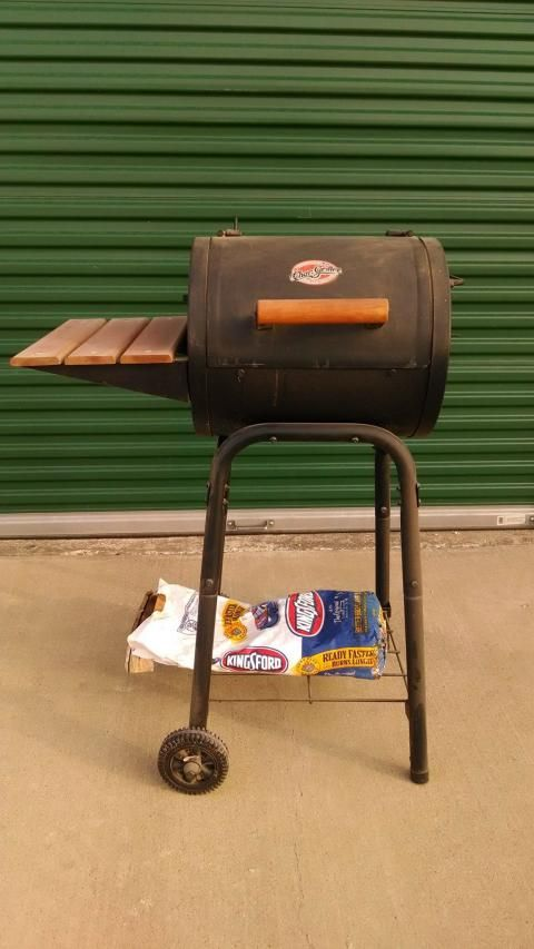 """CHARCOAL BARBECUE GRILL 41""""XX15""""X30""""  ABOUT 1/2 BAG OF CHARCOAL INCLUDED"""