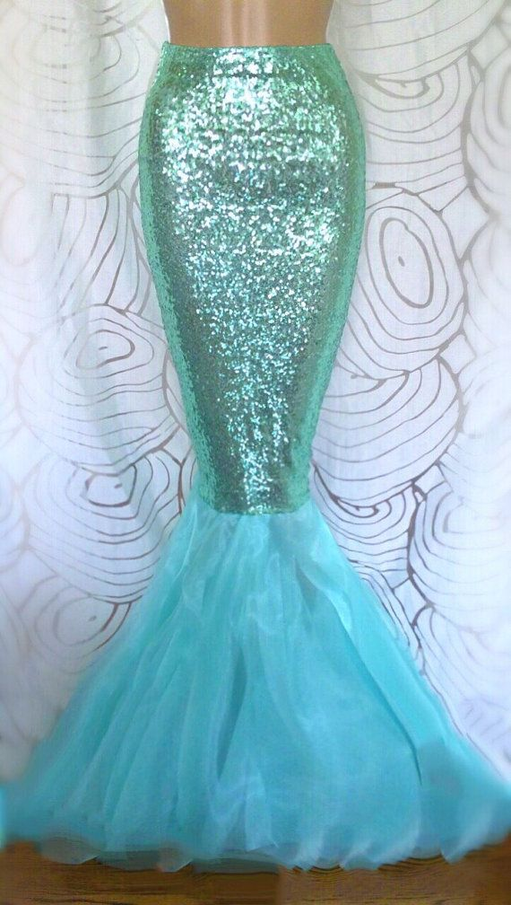 High Waist Sequin Sexy Mermaid Tail Skirt by SPARKLEmeGORGEOUS