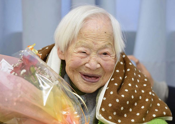 Born March 5, 1898, Misao Okawa says her secrets to living a long life: good genes, good sleep, exercise, and sushi!