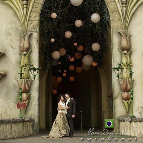 Femke Buskop-Daniels en haar man trouwden op vrijdag de 13e en lieten dit vastleggen voor de Droomvlucht