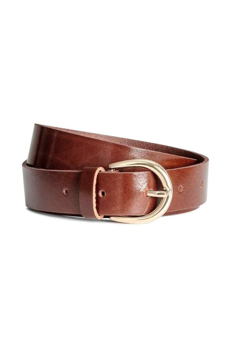 Leather belt - Brown - Ladies | H&M GB 1
