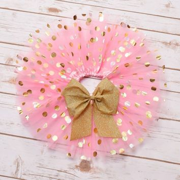 Pink and Gold Tutu, Birthday Tutu, Baby Tutu, Toddler Tutu, Girls Tutu, Cake…