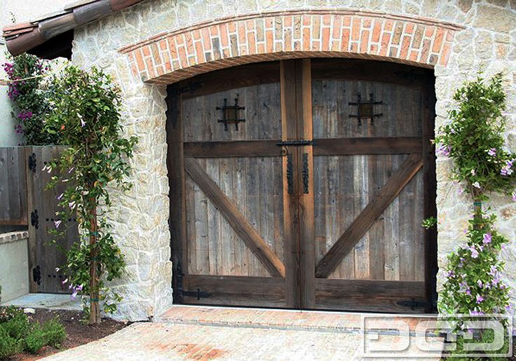 17 best images about garage doors on pinterest the sword for Rustic wood garage doors