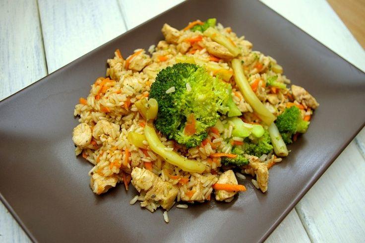 RYŻ Z KURCZAKIEM I WARZYWAMI - Dietetyczne przepisy - Blog o żywności ekologicznejDietetyczne przepisy – Blog o żywności ekologicznej