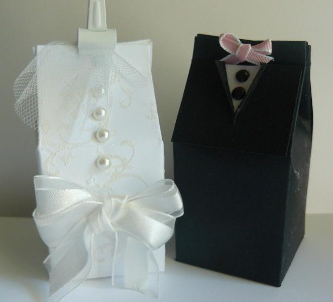 Milk carton Bride and  Groom Jeanne Nielsen