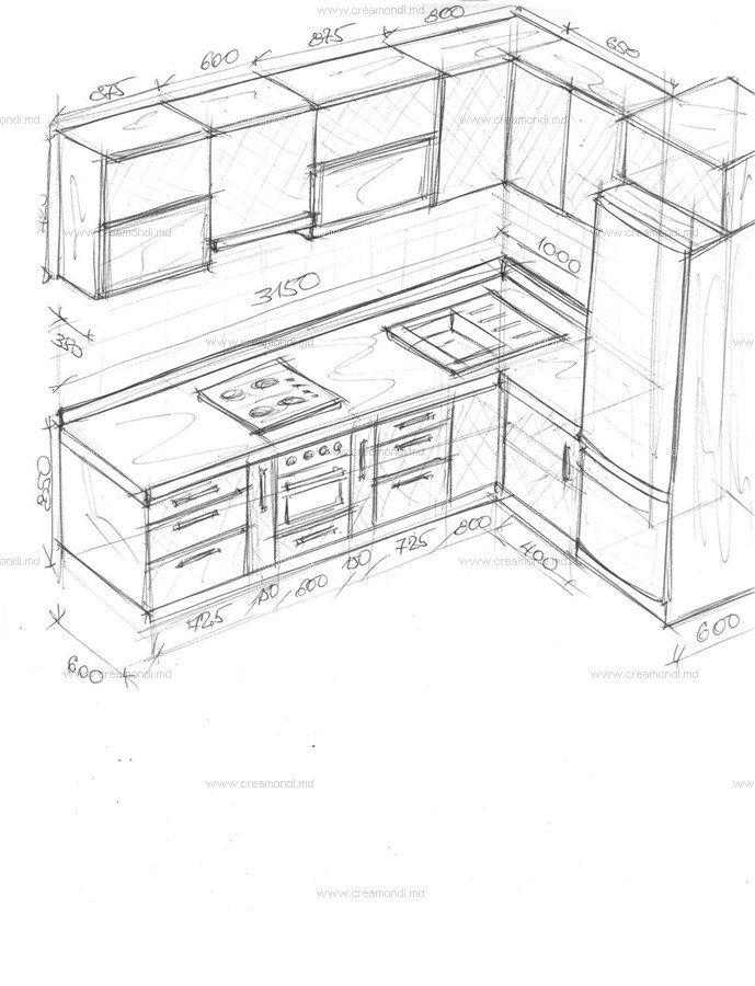 Кухня угловая, bucatarie pe colt.