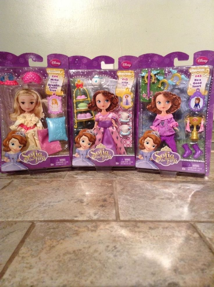 Sofia The First 3 Outfit Lot Amber Bedtime Garden Fashion Picnic Fashion New