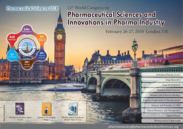 12th World Congress on #Pharmaceutical_Sciences &  Innovations in #Pharma_Industry February 26- 27, 2018 London, UK