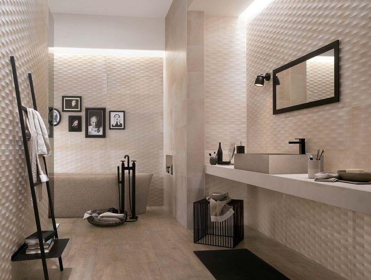soft creamy neutral matt textured bathroom tiles creta from fap ceramiche