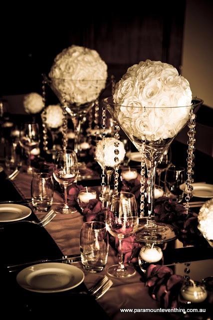 Gorgeous celebration! #roseballs #martinivases #crystals