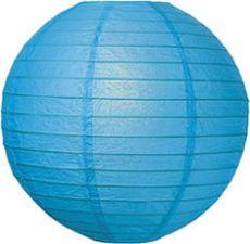 Caribbean Blue Paper Lanterns in Three Sizes