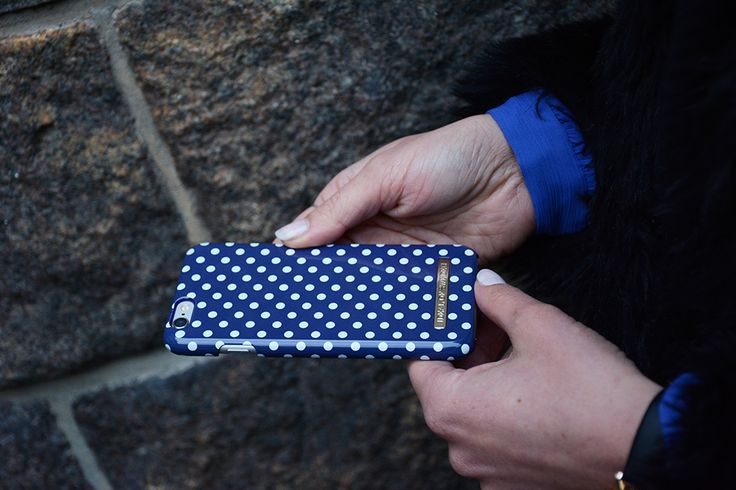 Blue Polka Dots - Fashion case phone cases iphone inspiration iDeal of Sweden #Pokadots #blue #marin #fashion #inspo #iphone