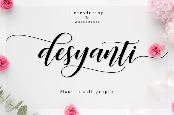 Desyanti Script by Amarlettering on @creativemarket