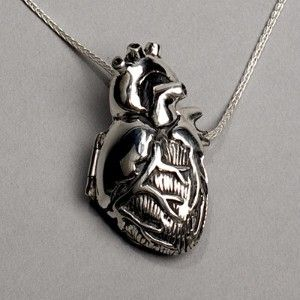 @niketa schimming: Heart Lockets, Style, Heart Jewelry, Chains, Heart Necklaces, Sterling Silver, Silver Anatomical, Things, Anatomical Heart