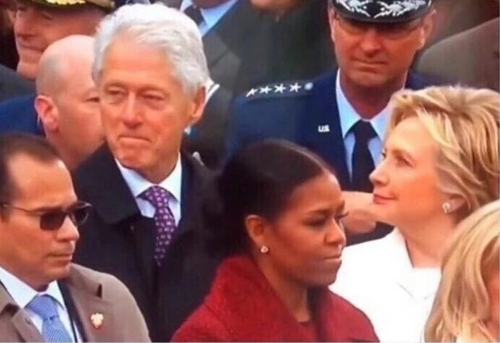 I just want someone who looks at me the same way Bill Clinton looks at women who aren't his wife