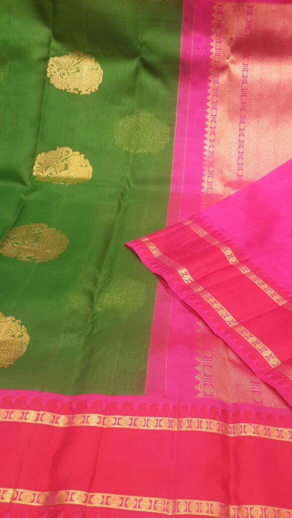 LIGHT WEIGHT ORGANZA KORVAI KANHIPURAM SAREE - PH08201634