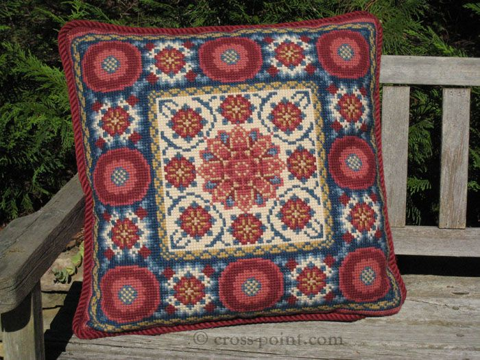 A suzani pattern in the cross-point.com pillow kit collection