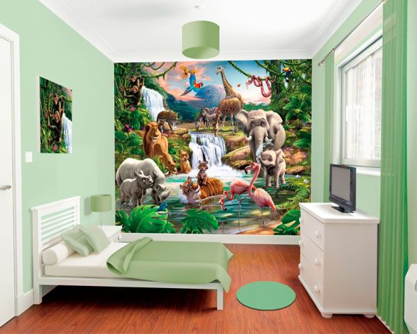 Geweldig posterbehang helemaal in de sfeer van de jungle. Makkelijk aan te brengen. Zie ook de andere designs.