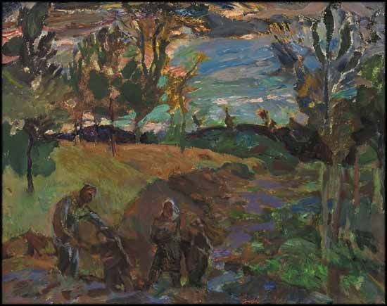 Frederick Horsman Varley - Sunset After Storm, Kootenay, BC 11.75 x 15 oil on board