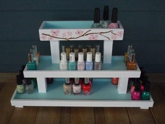 I Know It Says For Nail Polish But I Really Like This Tier Table Shelf    Potentially For Future Art Events! To Fit Samller Pieces :) Nail Polish  Storage ...