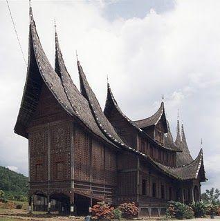 Rumah Gadang (House of Traditional Minangkabau, West Sumatra) Indonesia.