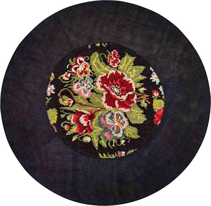 carpet round cm. 208 canapa wool flowers floral kilim turkish prices yacht furniture store design manufacturer online shop shipment