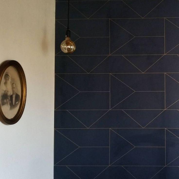 ferm living lines wallpaper. Black Bedroom Furniture Sets. Home Design Ideas