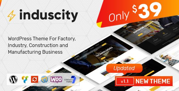 Wordpress Induscity Factory Industry Construction And