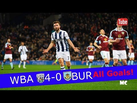 West Bromwich Albion   Burnley FC 4 0 All Goals & Extended Highlights   EPL 21 11 2016