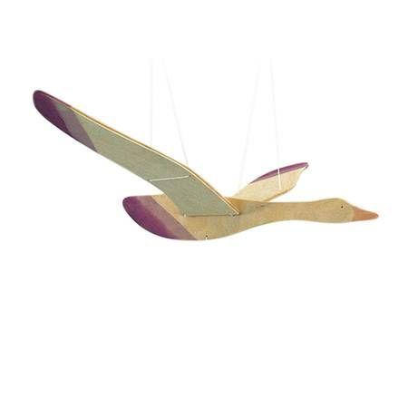 Houten mobiel vogel van Ostheimer. Vliegende mobiel voor boven wieg of box van de baby. De mobile kan bevestigd worden aan het plafond.