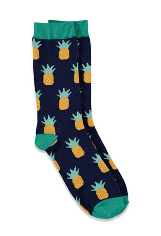 Colorblocked Pineapple Socks