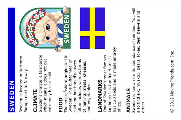 Girl Scout Brownies, A World of Girls Journey: Sweden